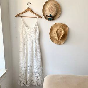 ASTR The Label white lace midi dress size Large